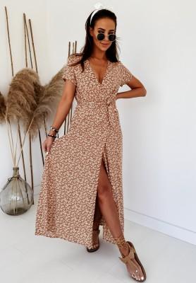 Sukienka Maxi Fiorito Camel