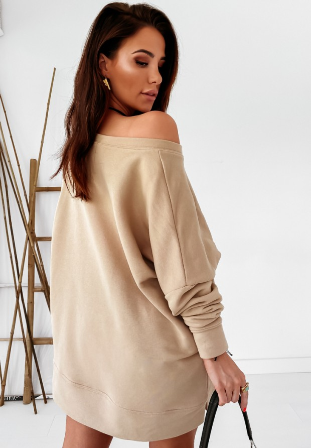 Bluza Oversize Girl Power Beige