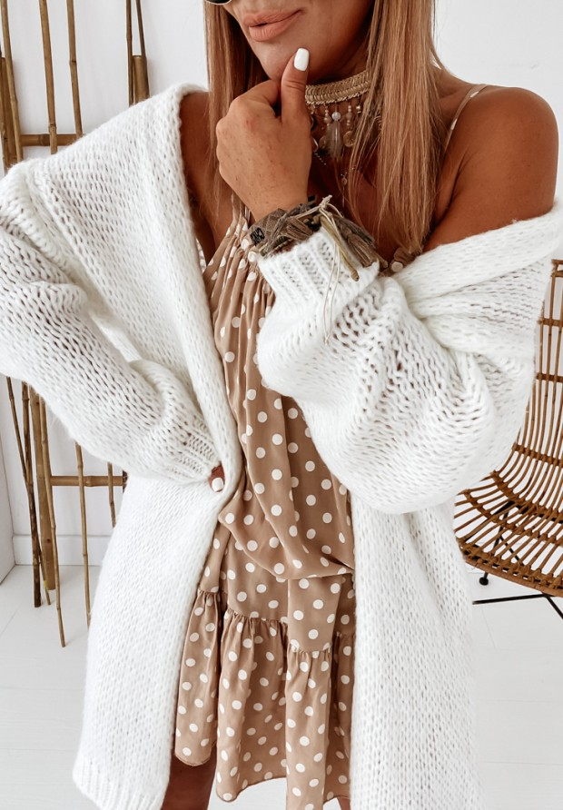 Sweter Kardigan Bueno Ecru