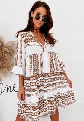Sukienka Adenium Aztec Camel