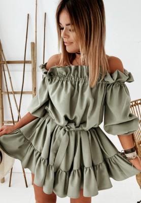 Sukienka Hiszpanka Claire Khaki