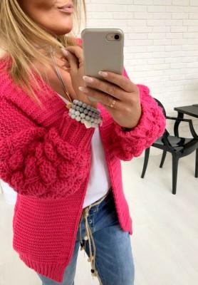 Sweter Kardigan Bubbles Fuksja