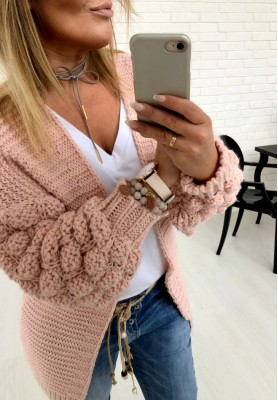 Sweter Kardigan Bubbles Puder