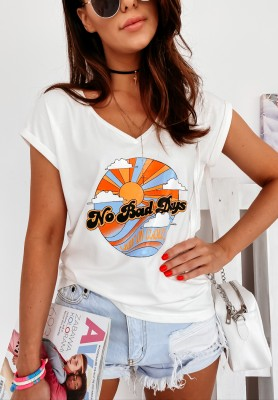 T-shirt Not Bad Day Ecru