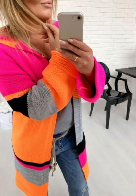 Sweter Kardigan Power Neon