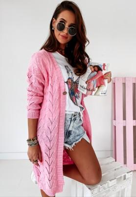 Sweter Kardigan Moralane Pink