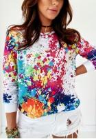 Bluza Crayon Color White