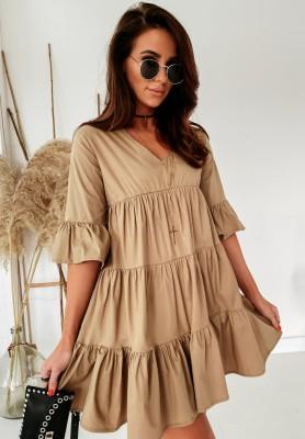 Sukienka Ksanti Camel
