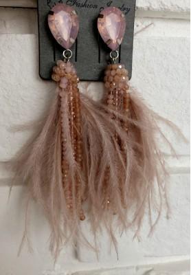 Kolczyki Feathers Puder
