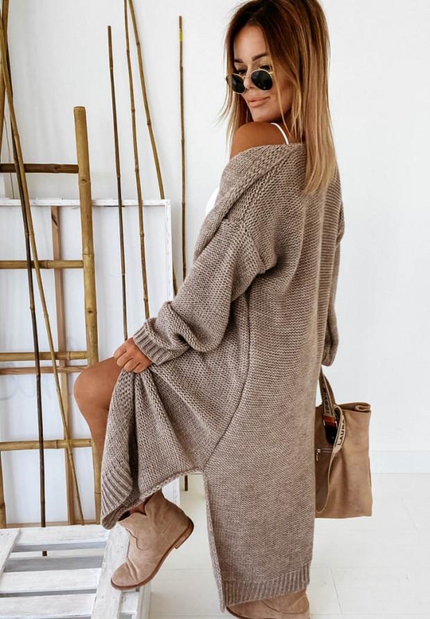 Sweter Kardigan Nancy Mokka