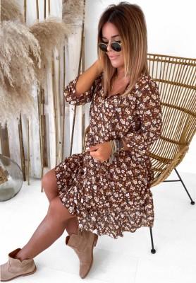 Sukienka Hanarii Camel