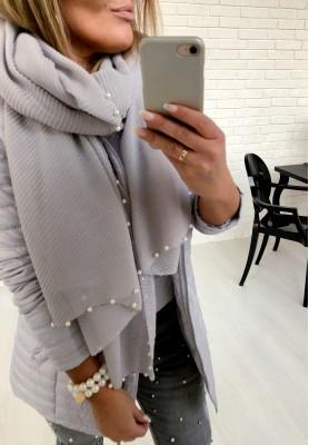 21026 Szal Harmony Pearls Grey