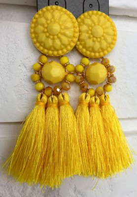 Kolczyki Famous Yellow