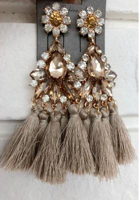 Kolczyki Glamour Beige