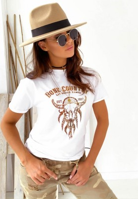 T-shirt Country White