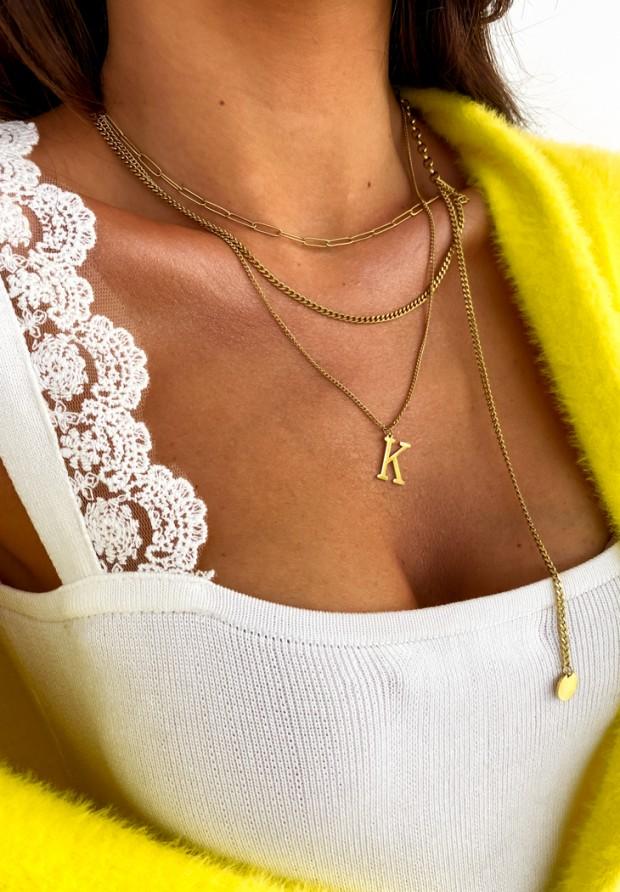 """Naszyjnik Chain Gold """"K"""""""