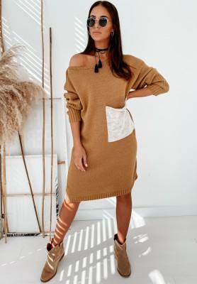 Sweter Sukienka Gloria Mustard