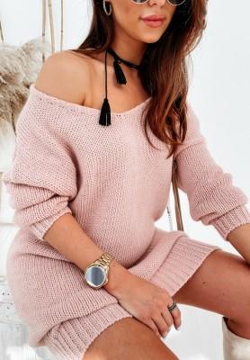 Sweter Sukienka Gobania Powder