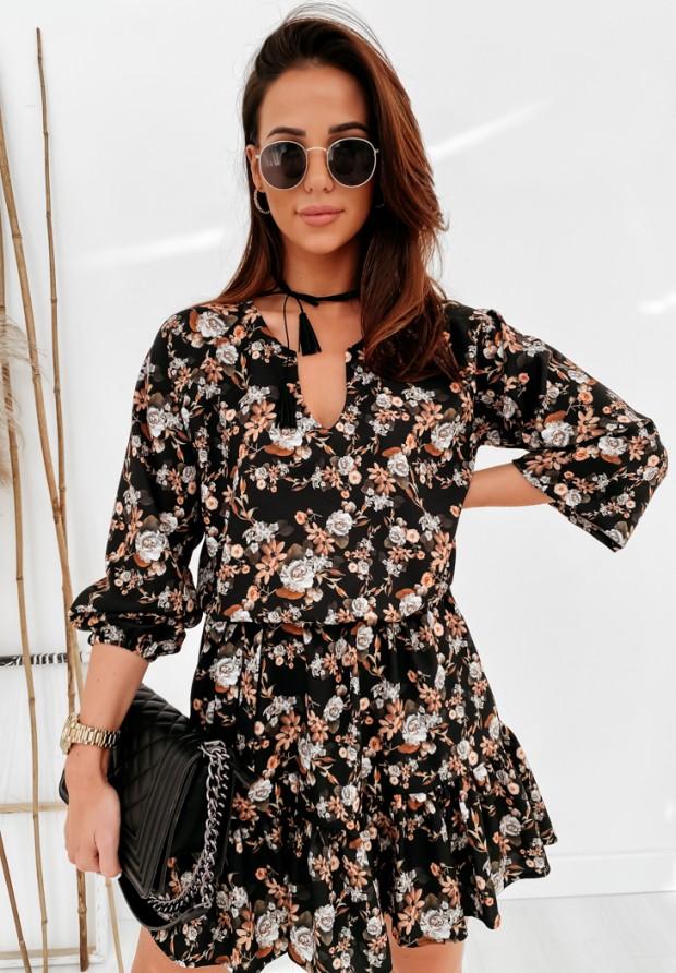 Sukienka Olney Flowers Camel