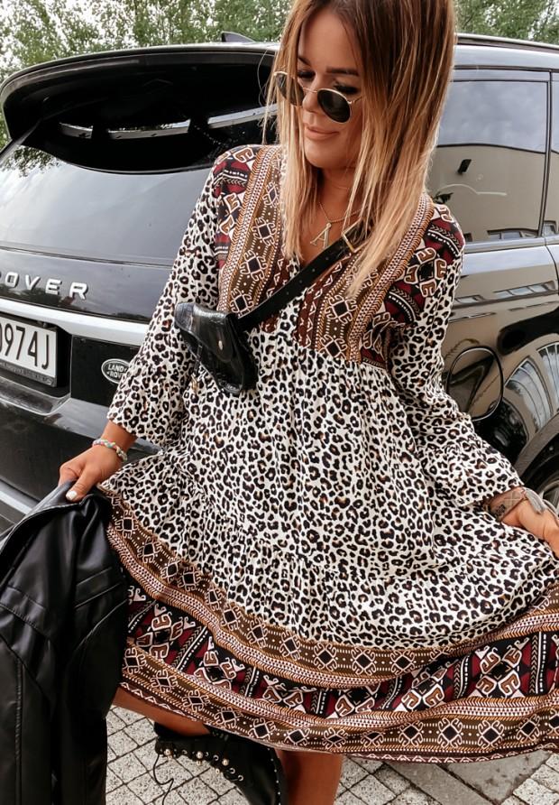 Sukienka Nazare Leopard