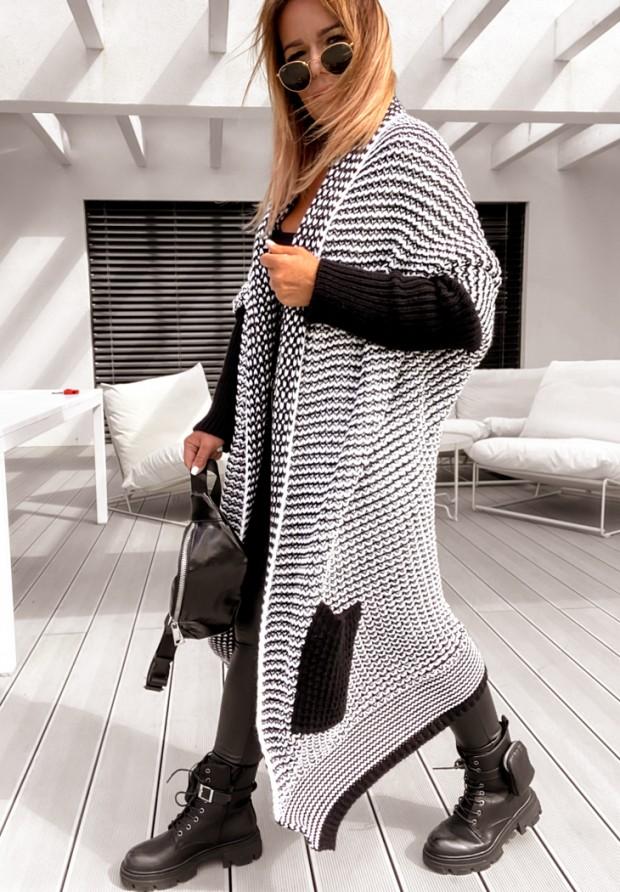 Sweter Kardigan Moi Black&White