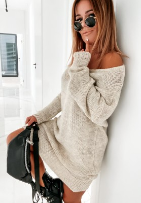 Sweter Sukienka Gobania Beige