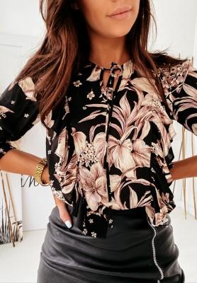 Koszula Nevra Lilies Black