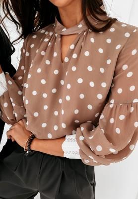 Koszula Carmen Dots Mokka