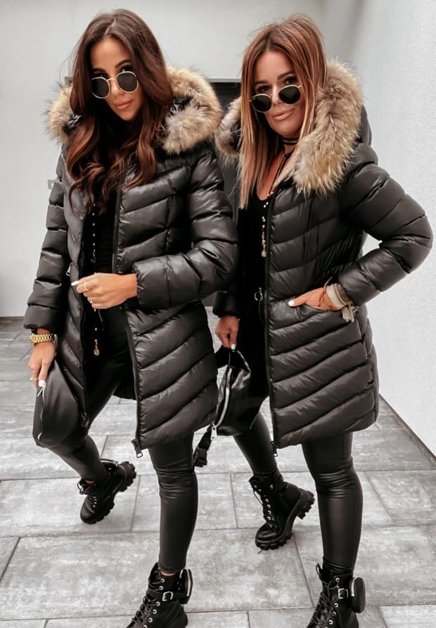 Kurtka Płaszcz Winter Black