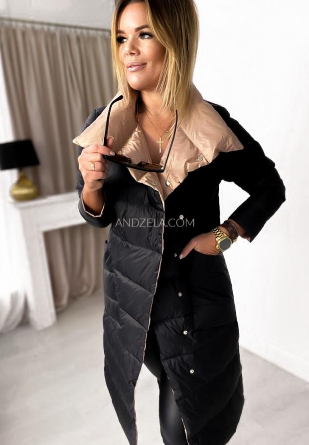 Płaszcz Dwustronny Cover Black & Camel