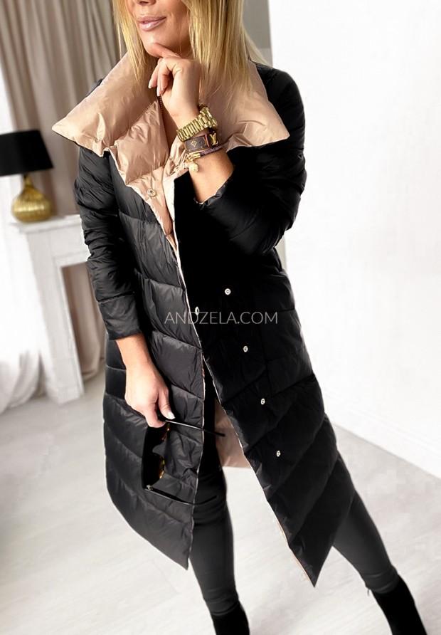 Płaszcz Dwustronny Cover Camel&Black