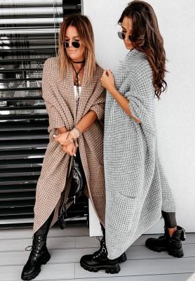Sweter Kardigan Moi Grey