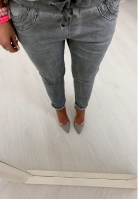 Spodnie Bologna Szare