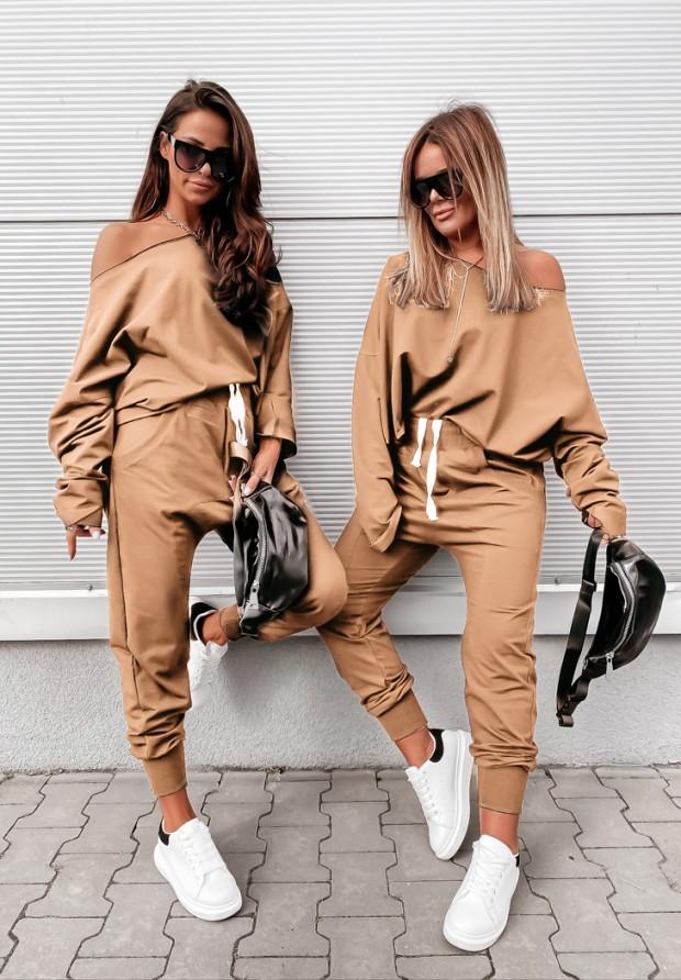 Spodnie Shein Camel
