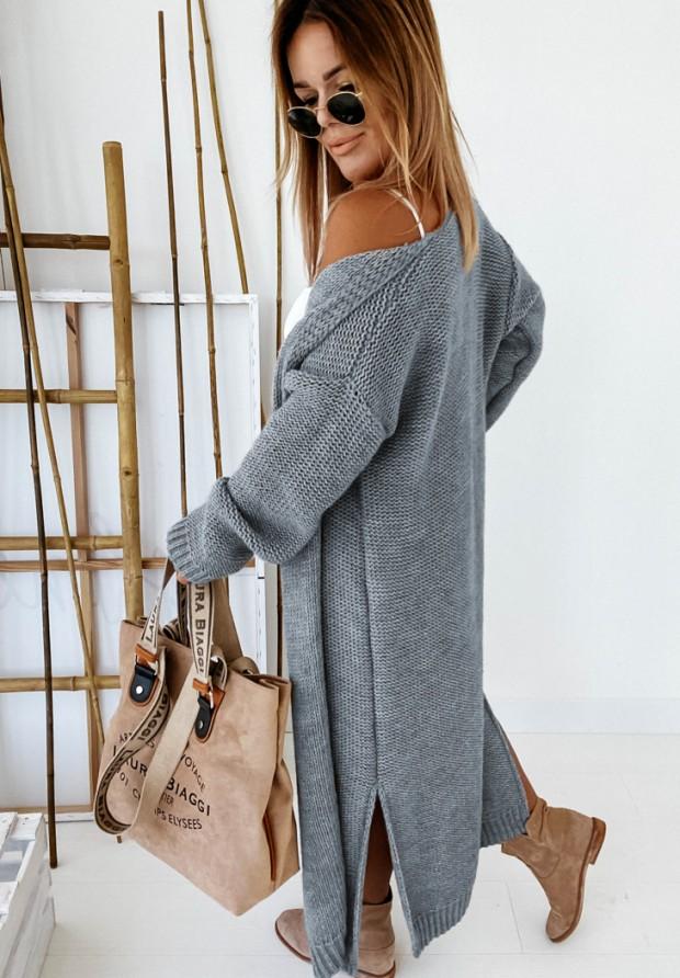 Sweter Kardigan Nancy Dark Grey