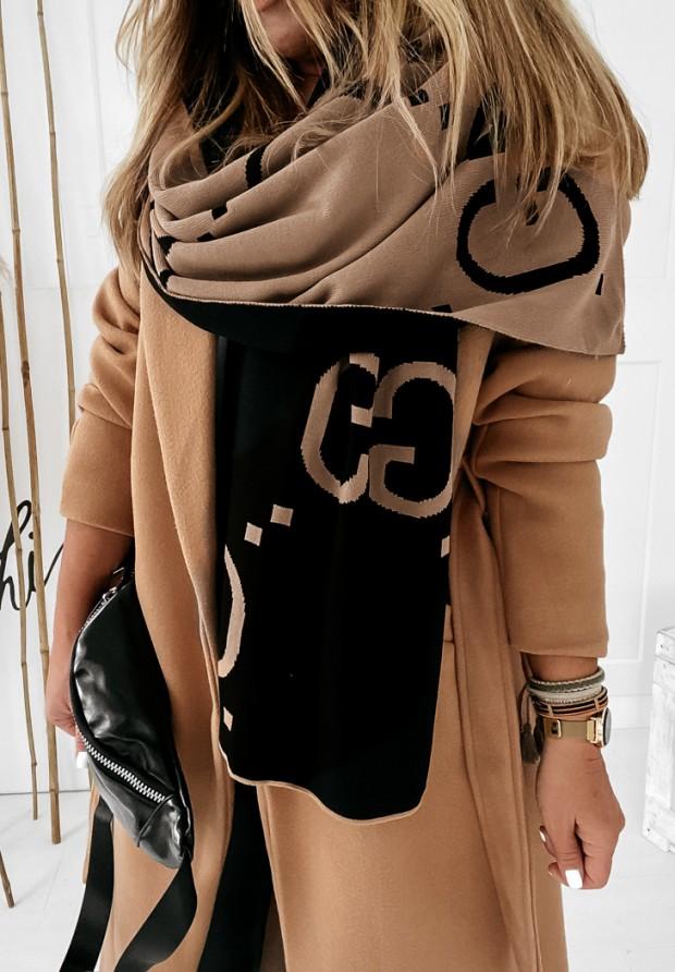 Szal GG Camel&Black