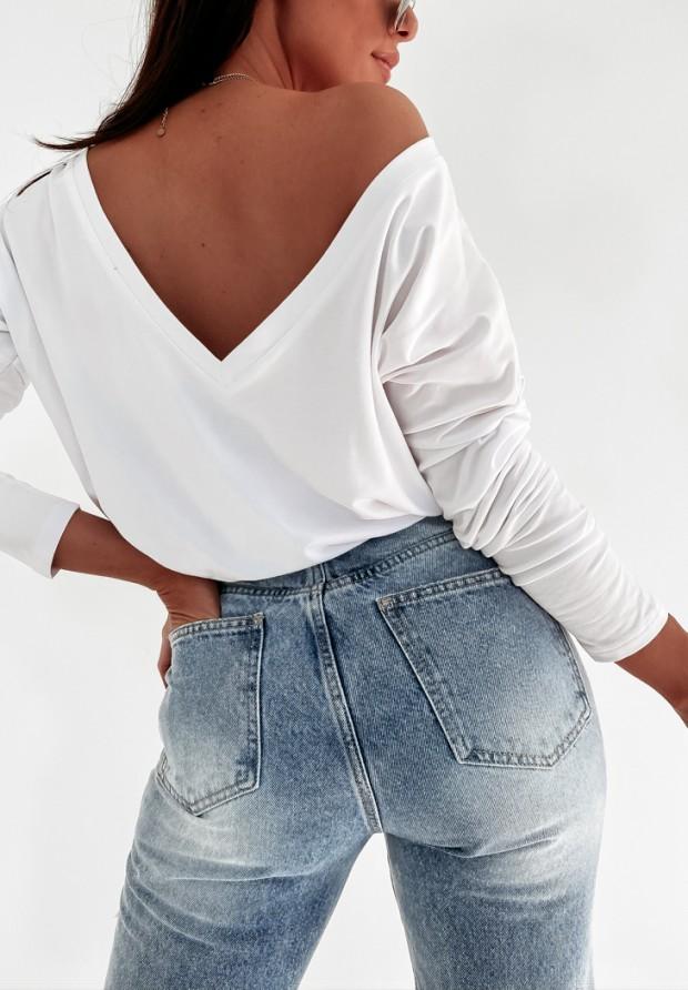 Bluzka Back White