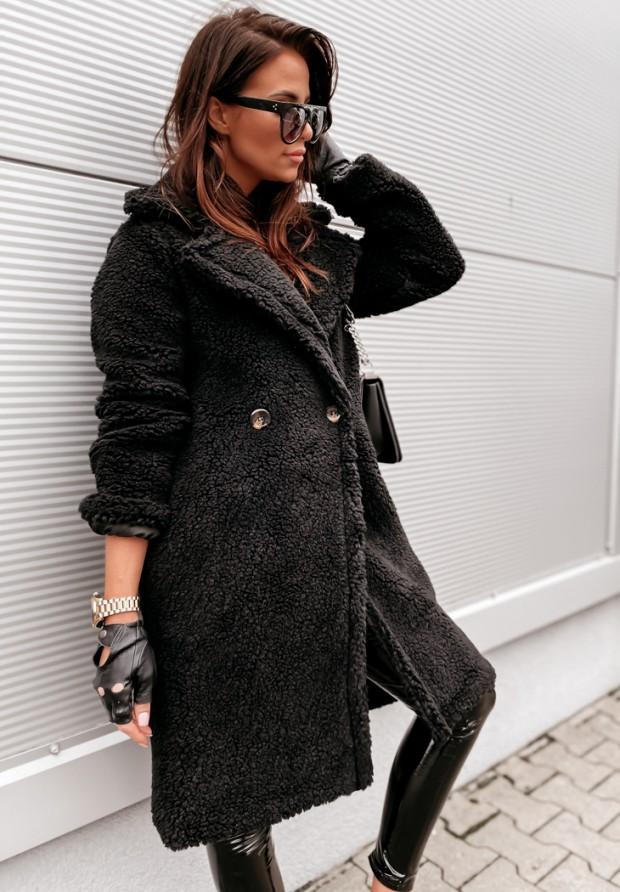 Płaszcz Kożuch Spring Black