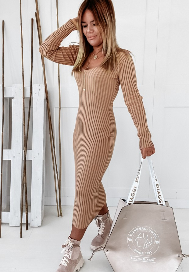 Sukienka Garcia Camel