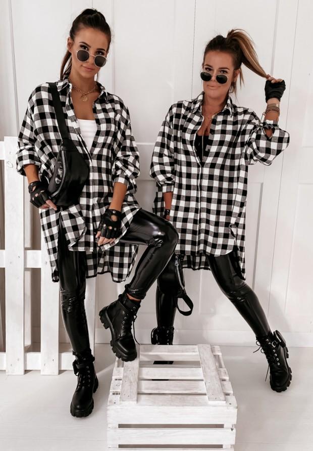 Koszula Asymetryczna Krata Black&White