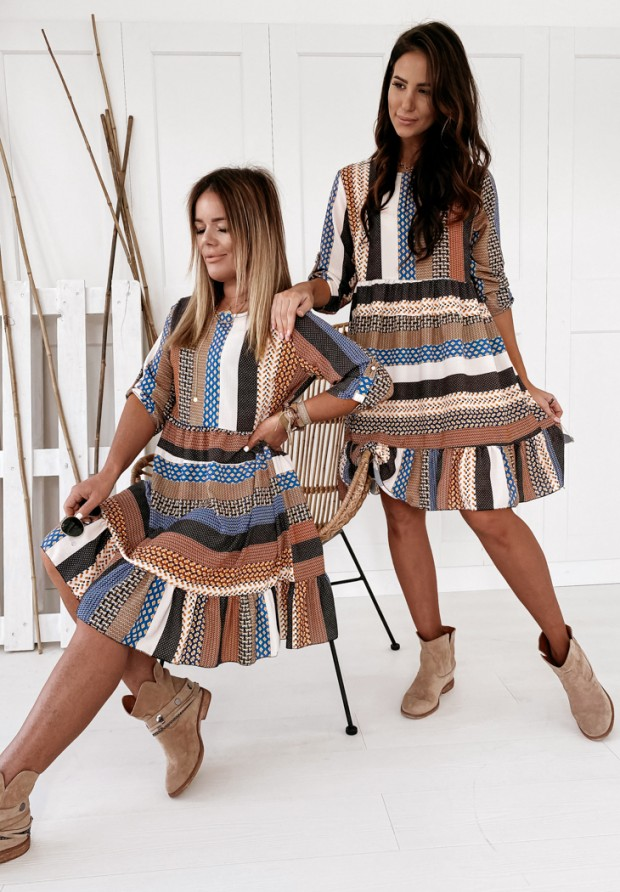 Sukienka Aztec Night Camel