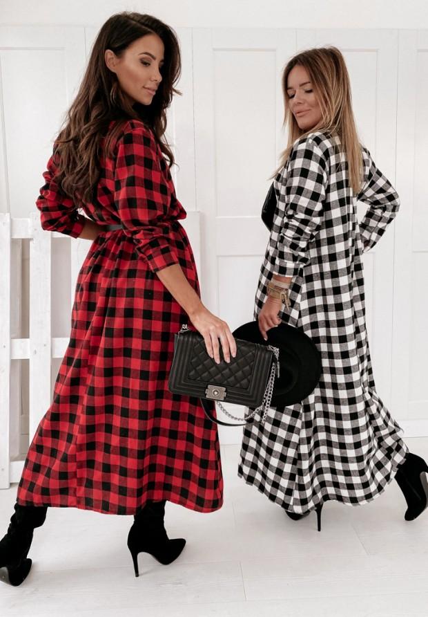 Sukienka Krata Libby Black&Red