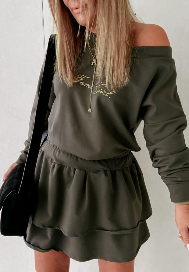 Sukienka Fame Girl Khaki