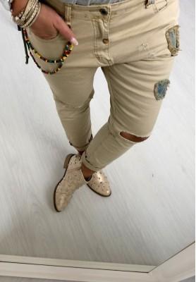 271 Spodnie Patches Beż