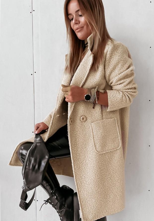 Płaszcz Kożuch Marissa Beige