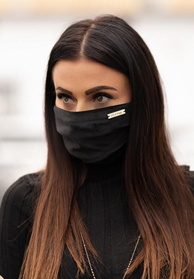 Maska Welur Black