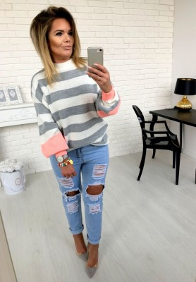 18325 Spodnie Boyfrend Light Jeans