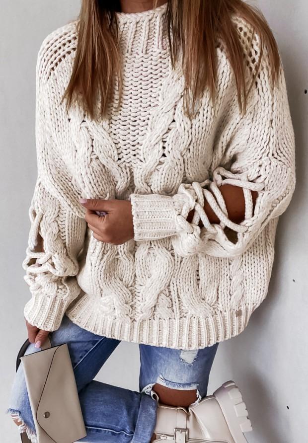 Sweter Cocomore Casual Ecru