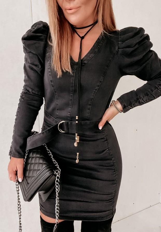 Sukienka Minor O'la Voga Jeans Dark Grey