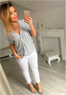 Spodnie Uni White